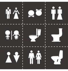 toilet icon set vector image