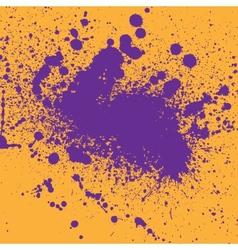 Two color ink blots vector image