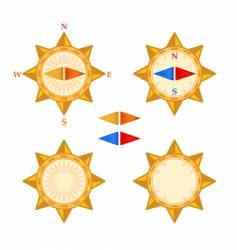 compass with demountable arrows vector image vector image