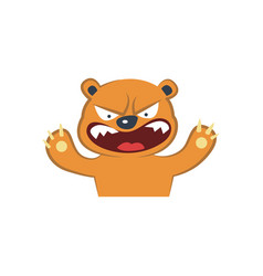 Cute bear furious vector