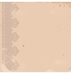 old worn texture with border vector image vector image