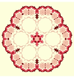 Ornamental round floral pattern Set of four vector image vector image