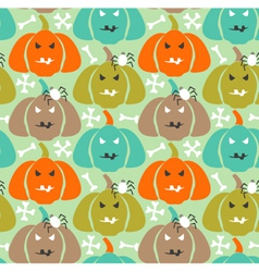 Retro Halloween background vector image