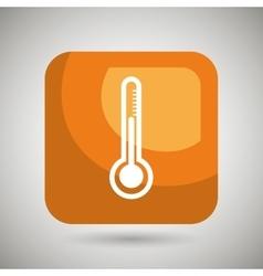 thermometer square button isolated icon design vector image