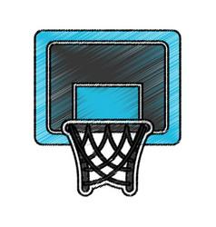 basket basketball isolated icon vector image