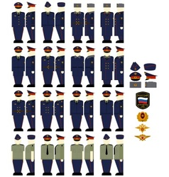 Casual uniforms of the Ministry of Justice vector image