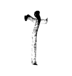Christian cross grunge religion symbol vector image