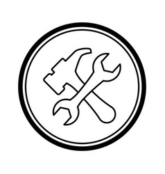 construction tools symbol vector image