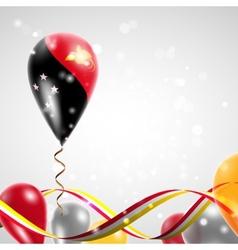 Flag of papua - new guinea on balloon vector