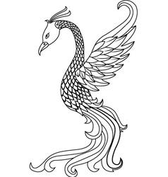 phoenix tattoo vector image