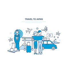 travel to japan vacation acquainted with culture vector image