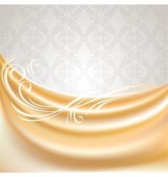 beige silk curtain vector image vector image