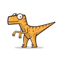 cartoon funny raptor vector image vector image