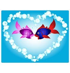 Fish love vector