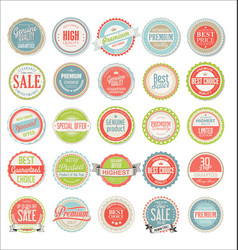 retro colorful badges and labels collection vector image vector image