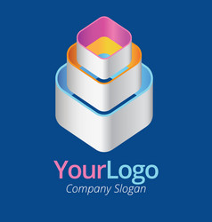 3d logo vector image