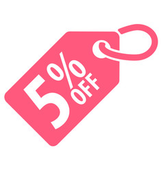 5 percent off tag vector image