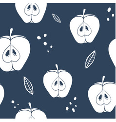 Abstract apple seamless pattern vector