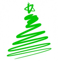 Abstract Christmas tree a simple drawing vector
