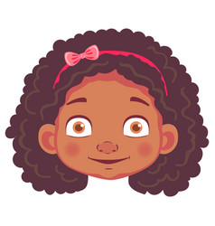 african girl character vector image