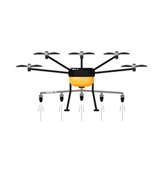 Agriculture drone isolated light aircraft vector