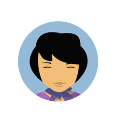 asian business woman profile icon chinese vector image