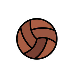 Ball volley volleyball sport flat color icon icon vector