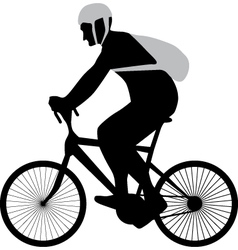 bicyclist silhouette vector image vector image