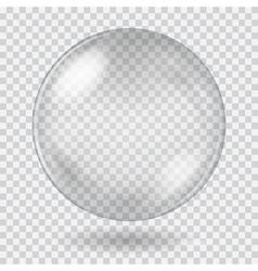 Big white transparent glass sphere vector image