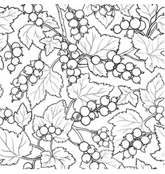 Black currant seamless pattern vector