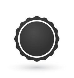 black gradient smooth edged burst badge seal or vector image
