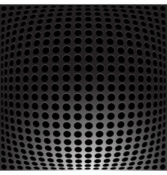 Black Metal carbon holes background vector