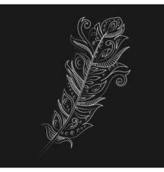 Bohemian boho bird feather vector