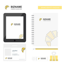 bun business logo tab app diary pvc employee card vector image
