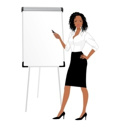 Businesswoman character vector image
