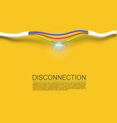 cable break disconnect art cover vector image