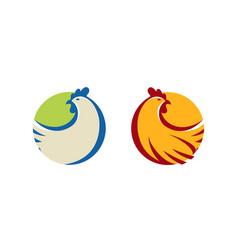 chicken logo or label farm animal symbol vector image