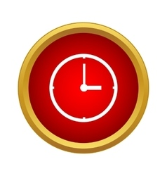 Clock Icon simple style vector image
