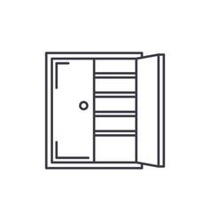 closet line icon concept closet linear vector image