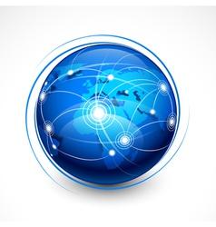 Concept internet communication vector
