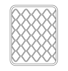 cotton mattress icon outline style vector image