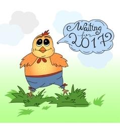 Cute cartoon chicken vector