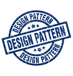 Design pattern blue round grunge stamp vector