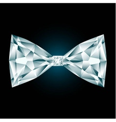Diamond bow tie on black background vector
