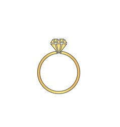 Diamond ring computer symbol vector image
