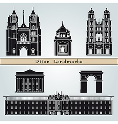 Dijon landmarks and monuments vector image