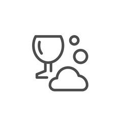 dishwashing line icon vector image