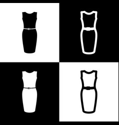 dress sign black and white vector image