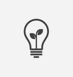 eco lightbulb icon idea icon vector image