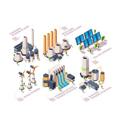 Energy systems powerful nature factories electric vector